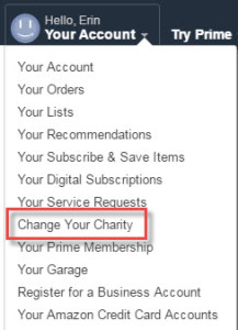 Change Your Charity Screen